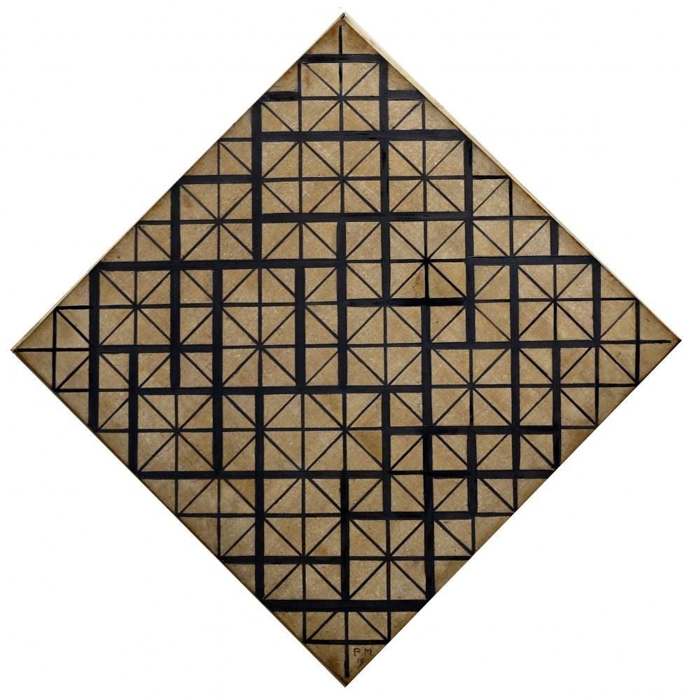 Gri Çizgilerle Kompozisyon 2, Piet Mondrian, Kanvas Tablo, Piet Mondrian, kanvas tablo, canvas print sales