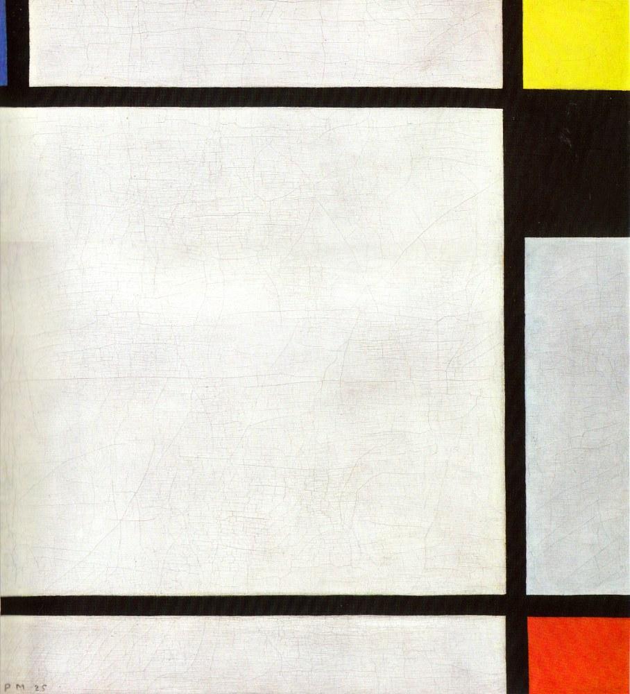 Piet Mondrian, Tableau N 7, Kanvas Tablo, Piet Mondrian, kanvas tablo, canvas print sales
