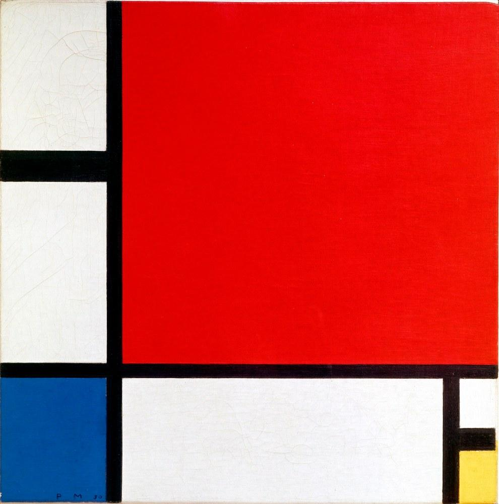 Composition 2 with Red, Blue, and Yellow, Piet Mondrian, Canvas, Piet Mondrian, kanvas tablo, canvas print sales