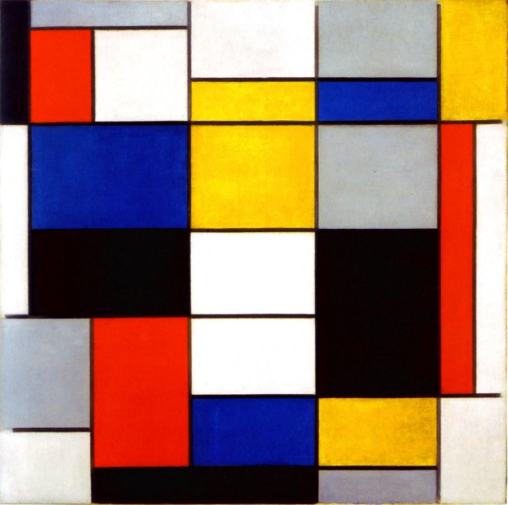 Composition A, Piet Mondrian, Canvas, Piet Mondrian, kanvas tablo, canvas print sales