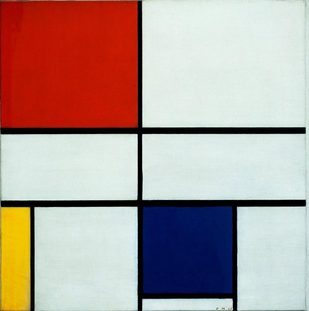 Composition C No:3, Piet Mondrian, Canvas, Piet Mondrian, kanvas tablo, canvas print sales