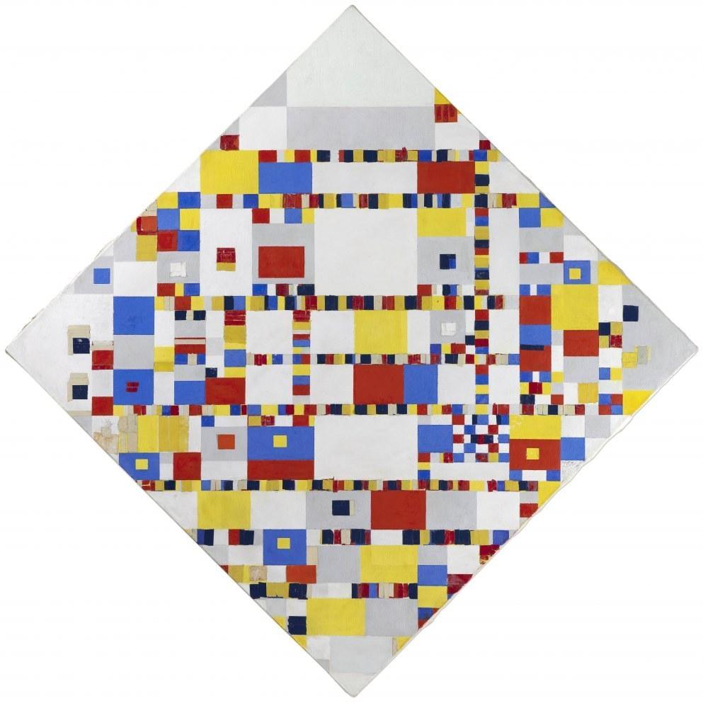 Victory Boogie Woogie, Piet Mondrian, Kanvas Tablo, Piet Mondrian, kanvas tablo, canvas print sales