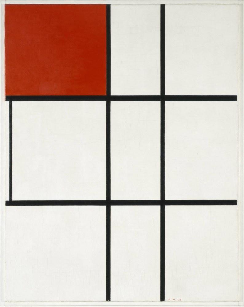 Piet Mondrian, Kompozisyon B No 11 Kırmızı, 1935, Kanvas Tablo, Piet Mondrian, kanvas tablo, canvas print sales