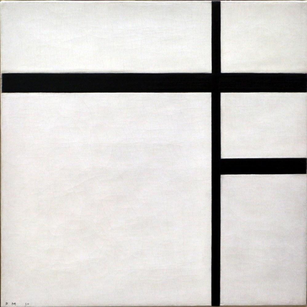 Black and White Composition 3, Piet Mondrian, Canvas, Piet Mondrian