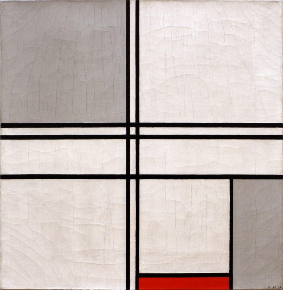 Composition N 1 Grey and Red 1935, Piet Mondrian, Canvas, Piet Mondrian