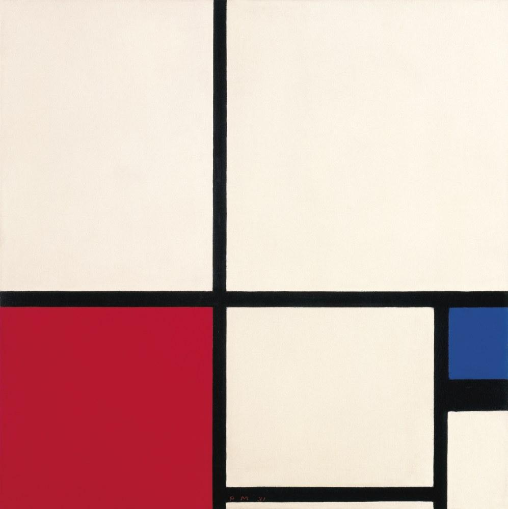 Composition Color Composition No: 1 Red Blue, Piet Mondrian, Canvas, Piet Mondrian, kanvas tablo, canvas print sales