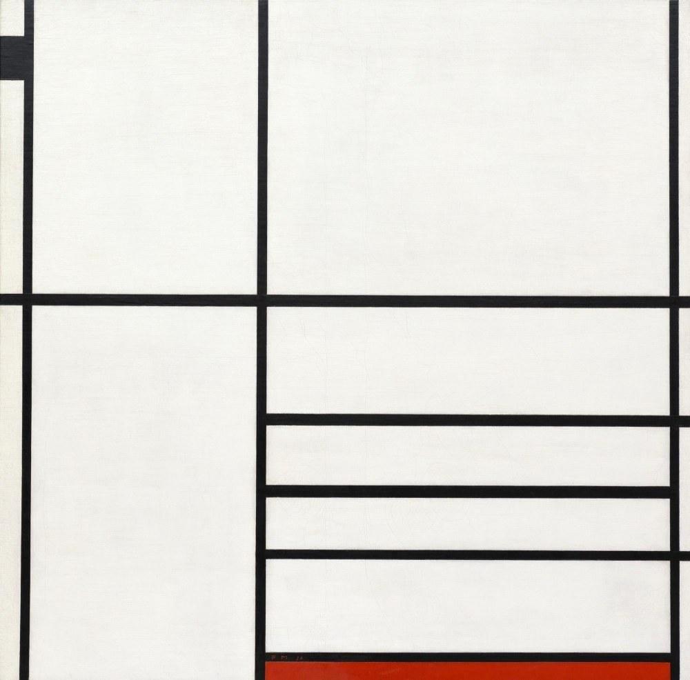 Beyaz, Siyah ve Kırmızı 1936 da Kompozisyon, Piet Mondrian, Kanvas Tablo, Piet Mondrian, kanvas tablo, canvas print sales