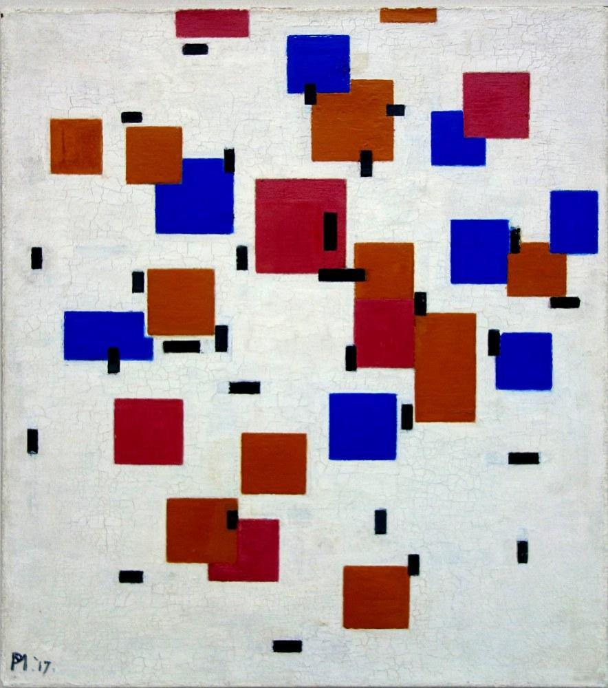 Composition in color A 1917, Piet Mondrian, Canvas, Piet Mondrian, kanvas tablo, canvas print sales