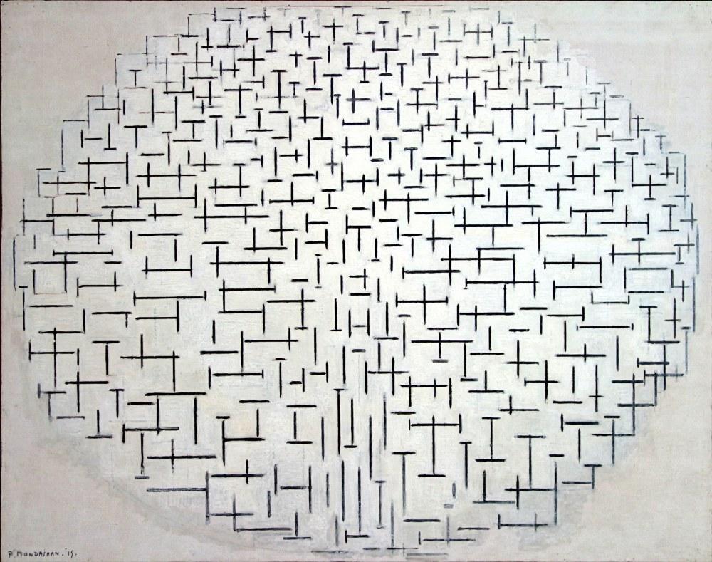 Siyah Beyaz Kompozisyon 10 1915, Piet Mondrian, Kanvas Tablo, Piet Mondrian, kanvas tablo, canvas print sales