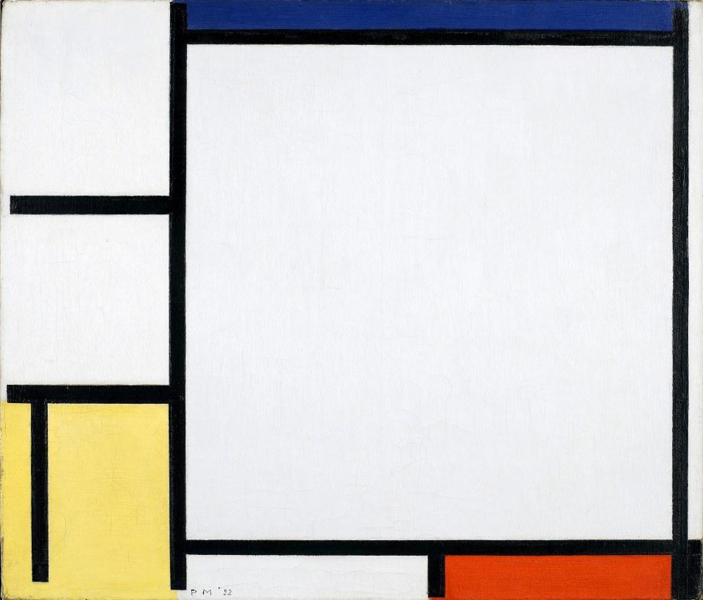 Piet Mondrian, Mavi, Kırmızı, Sarı ve Siyah ile Kompozisyon 1922, Kanvas Tablo, Piet Mondrian, kanvas tablo, canvas print sales