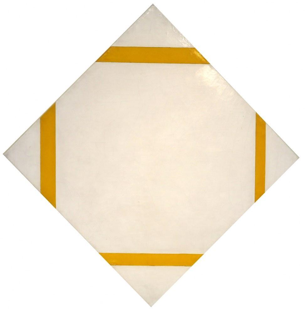 Sarı Çizgileri 1933 ile Pastil Kompozisyon, Piet Mondrian, Kanvas Tablo, Piet Mondrian, kanvas tablo, canvas print sales