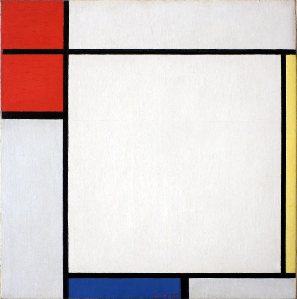 Composition with Red, Yellow and Blue 1927, Piet Mondrian, Canvas, Piet Mondrian, kanvas tablo, canvas print sales