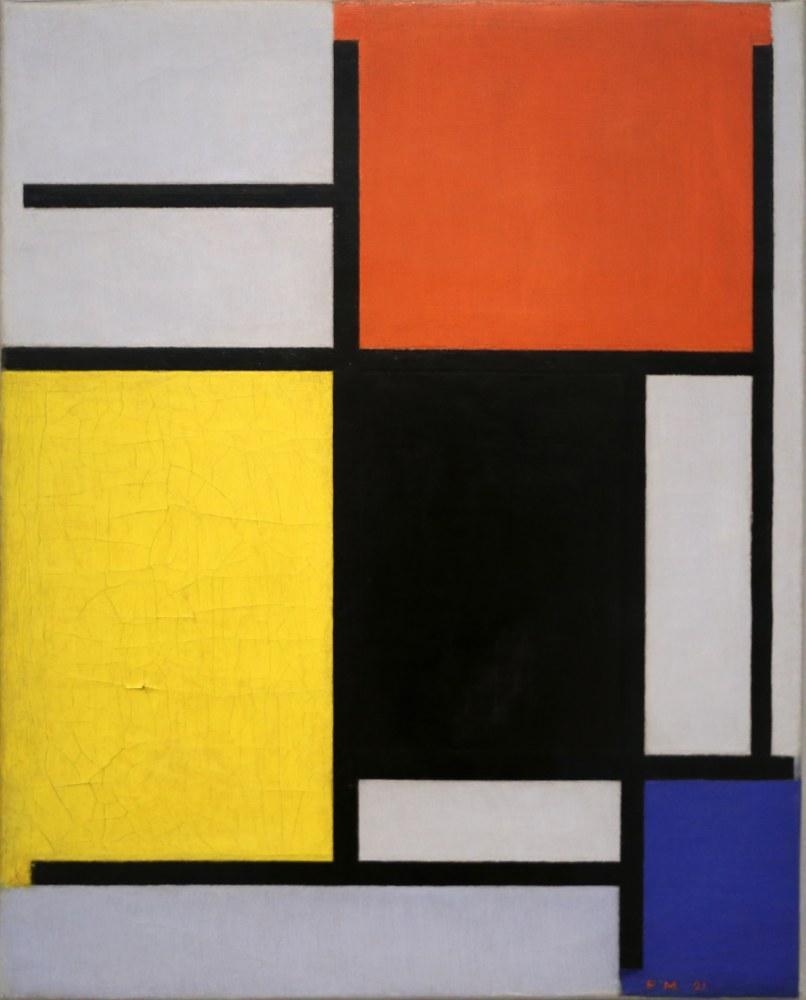 Kırmızı Sarı Siyah Mavi ve Gri 1921 ile kompozisyon, Piet Mondrian, Kanvas Tablo, Piet Mondrian, kanvas tablo, canvas print sales