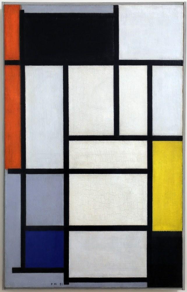 Composition with Red Black Yellow Blue and Gray 1921, Piet Mondrian, Canvas, Piet Mondrian, kanvas tablo, canvas print sales