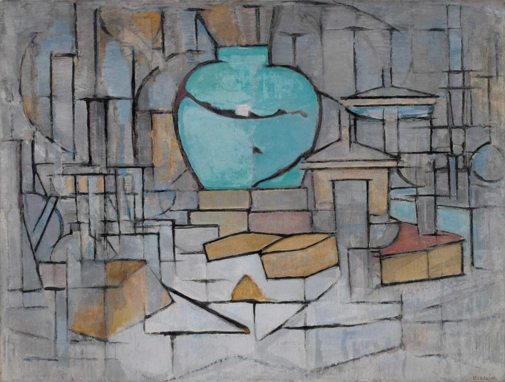 Zencefil Tencere Natürmort 2, Piet Mondrian, Kanvas Tablo, Piet Mondrian, kanvas tablo, canvas print sales