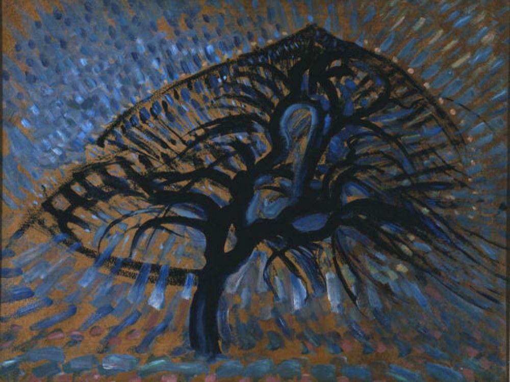 Apple Tree pointillist, Piet Mondrian, Canvas, Piet Mondrian