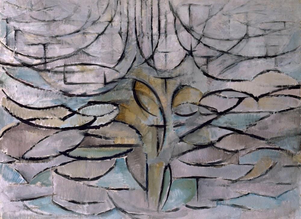 Blossoming Apple Tree (Flowering), Piet Mondrian, Canvas, Piet Mondrian