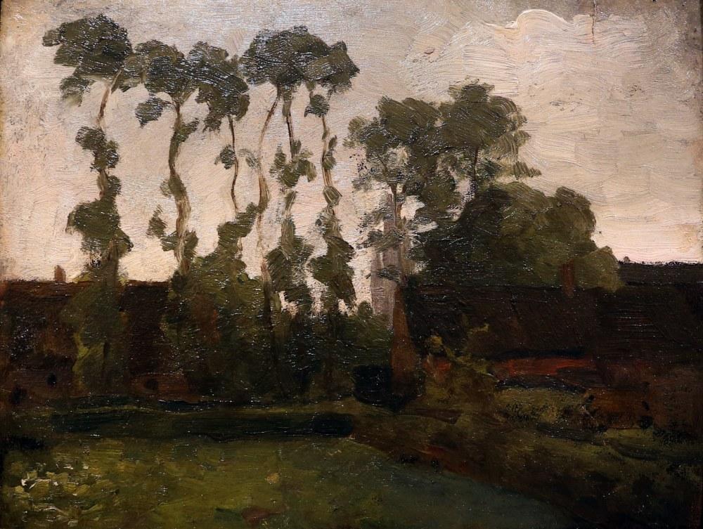 Ağaçlarla Çiftlik, Piet Mondrian, Kanvas Tablo, Piet Mondrian