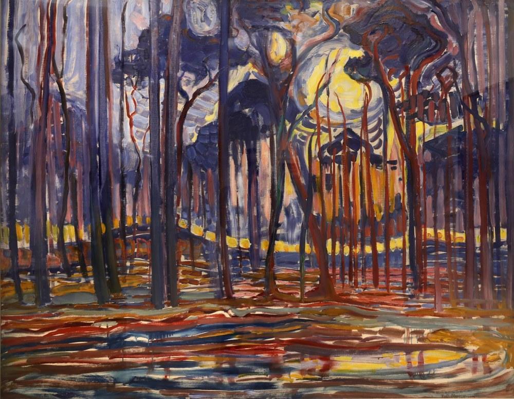 Yakınında Orman, Piet Mondrian, Kanvas Tablo, Piet Mondrian, kanvas tablo, canvas print sales