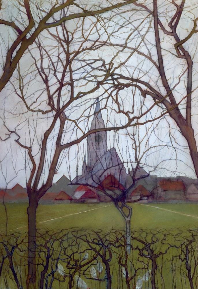 St Jacob s Kilisesi Winterswijk, Piet Mondrian, Kanvas Tablo, Piet Mondrian, kanvas tablo, canvas print sales
