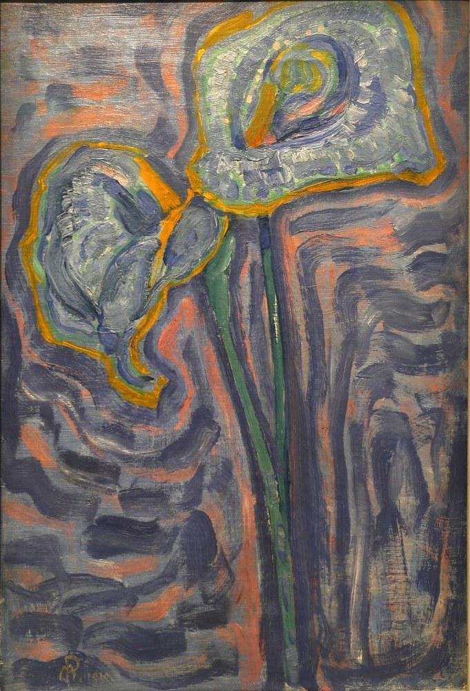 Arum Zambakları, Piet Mondrian, Kanvas Tablo, Piet Mondrian, kanvas tablo, canvas print sales