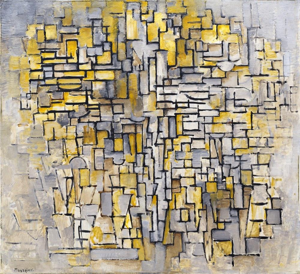 Tableau No 2, Kompozisyon No 6, Piet Mondrian, Kanvas Tablo, Piet Mondrian, kanvas tablo, canvas print sales