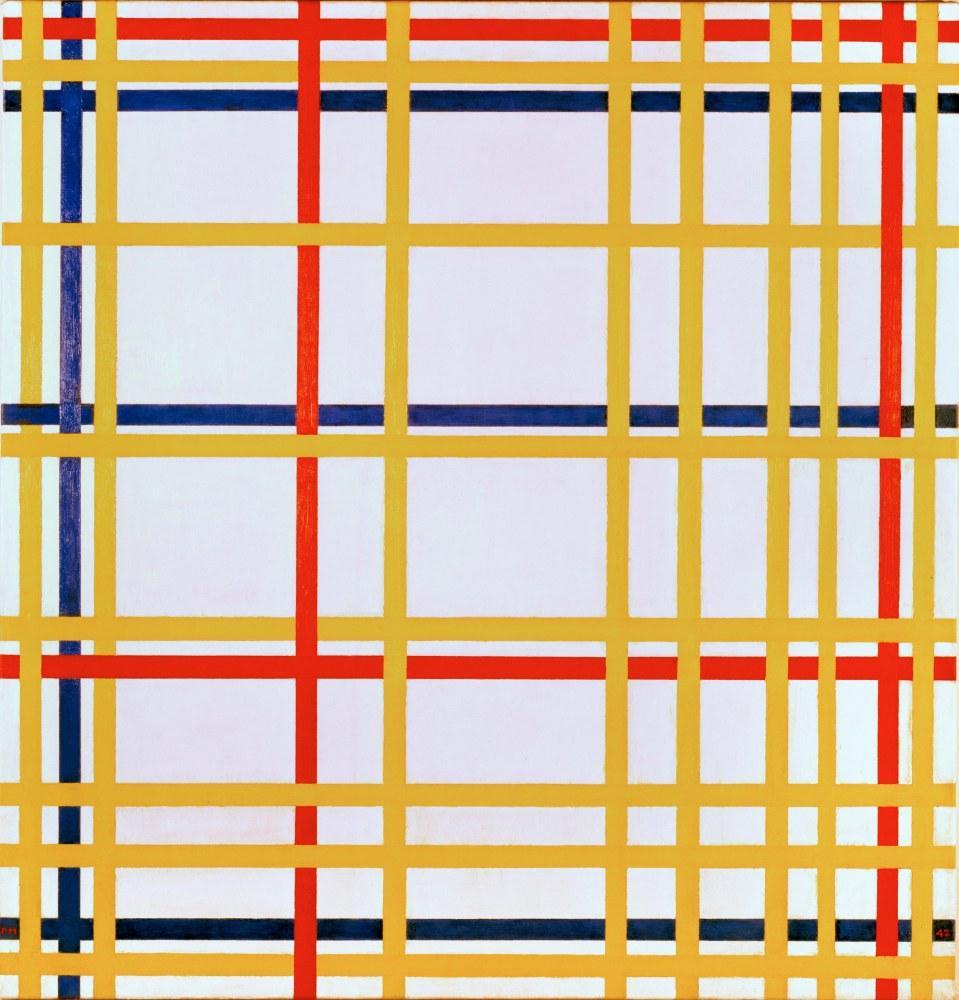 New York City 1, Piet Mondrian, Kanvas Tablo, Piet Mondrian, kanvas tablo, canvas print sales