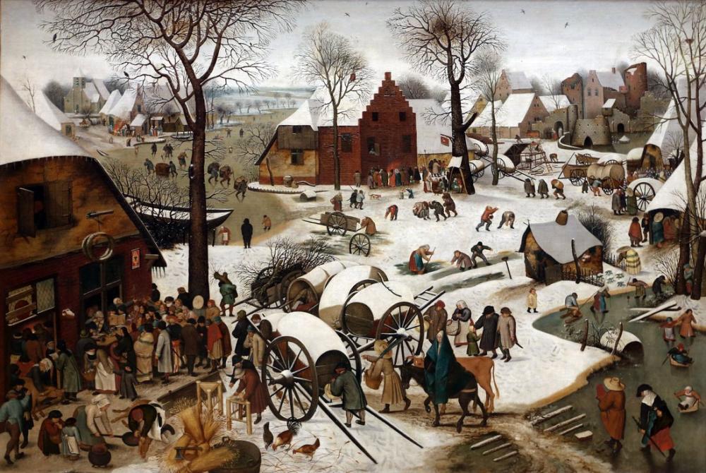 Pieter Bruegel The Bethlehem Census, Canvas, Pieter Bruegel, kanvas tablo, canvas print sales