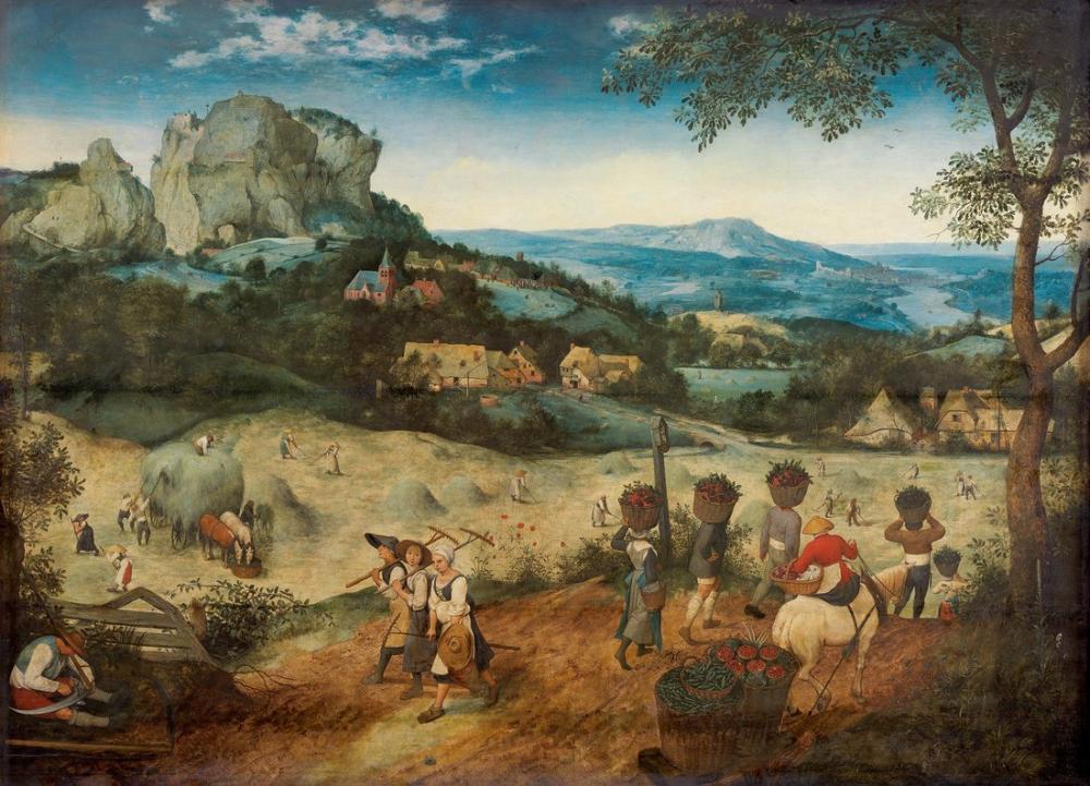 Pieter Bruegel Saman Hasadı, Hasat, Kanvas Tablo, Pieter Bruegel, kanvas tablo, canvas print sales