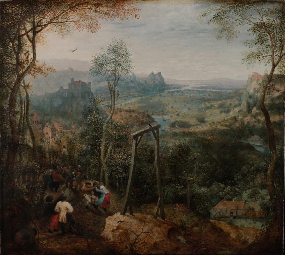 Pieter Bruegel The Magpie On The Gallows, Canvas, Pieter Bruegel, kanvas tablo, canvas print sales