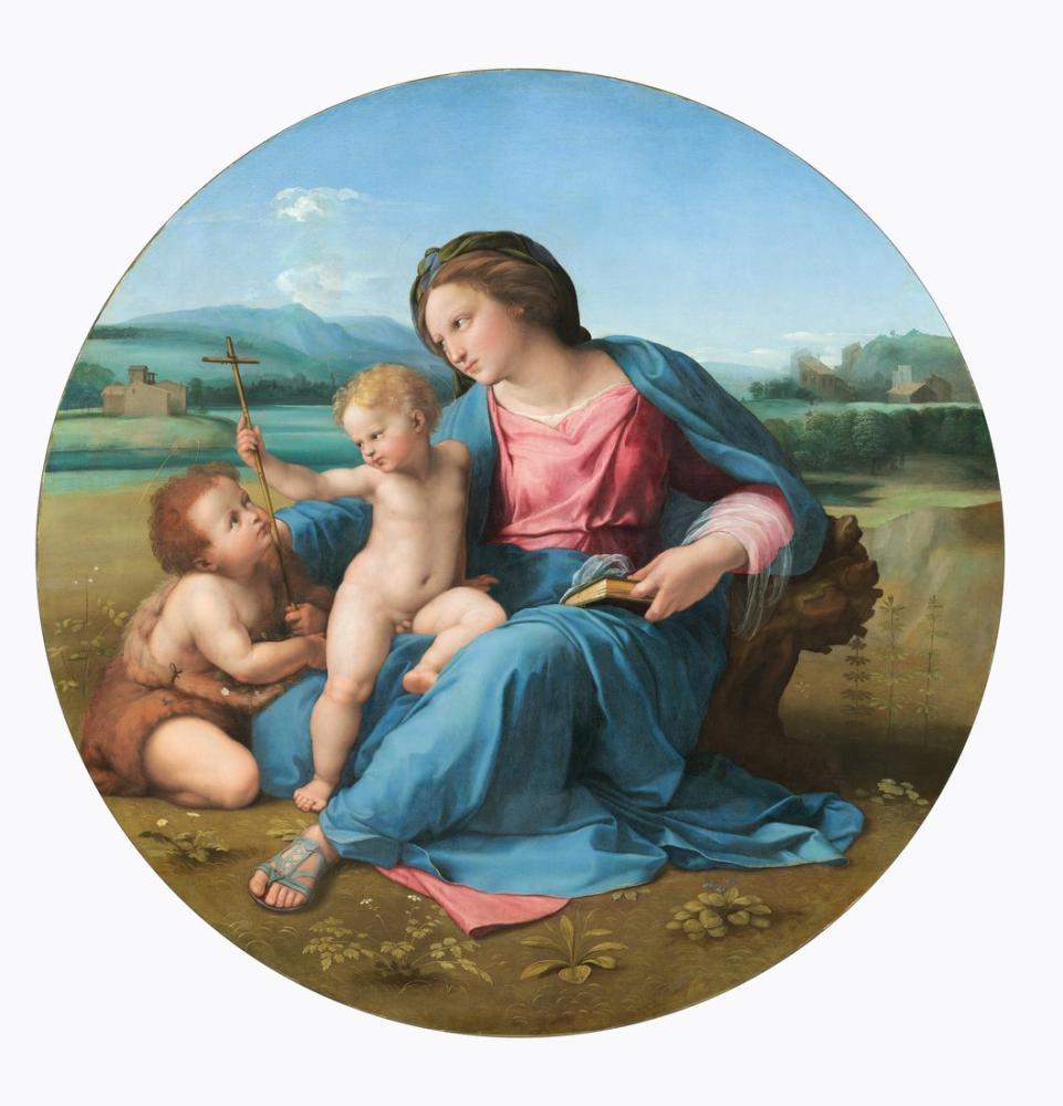 Raphael The Alba Madonna, Canvas, Raphael, kanvas tablo, canvas print sales