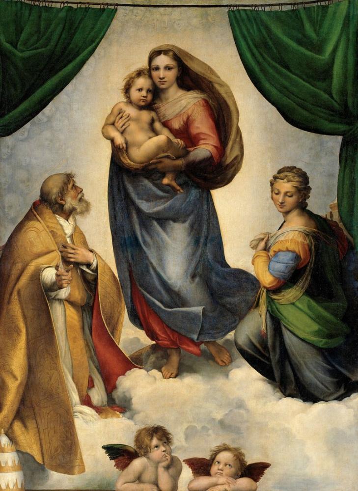 Raphael Madonna Sixtina, Kanvas Tablo, Raphael, kanvas tablo, canvas print sales