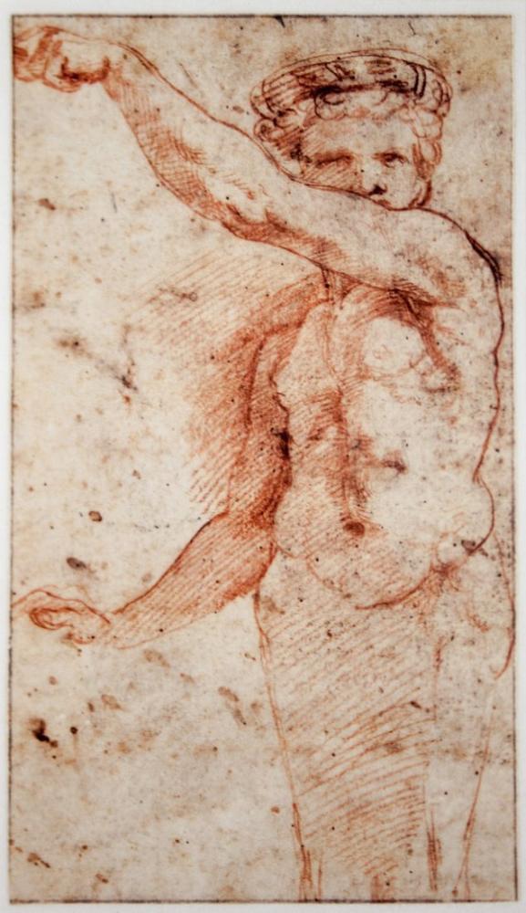 Raphael Herm With Raised Left Arm Right Arm Lowered, Canvas, Raphael, kanvas tablo, canvas print sales