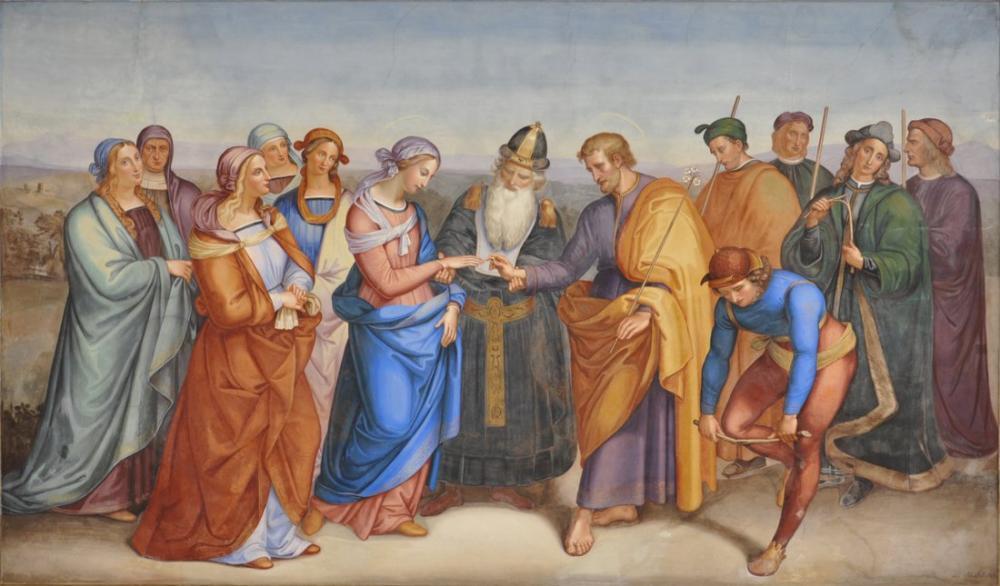 Raphael Bakire Meryem Nişanlanma, Kanvas Tablo, Raphael, kanvas tablo, canvas print sales