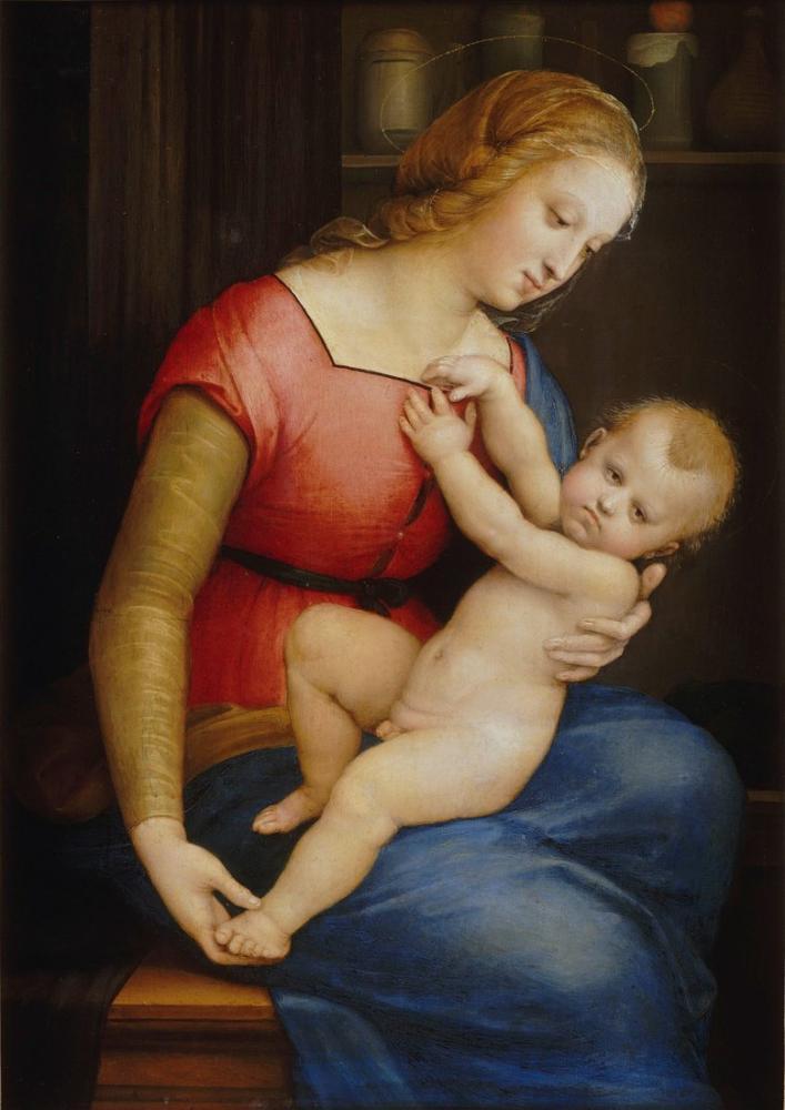 Raphael La Madone De La Maison Orleans, Canvas, Raphael, kanvas tablo, canvas print sales