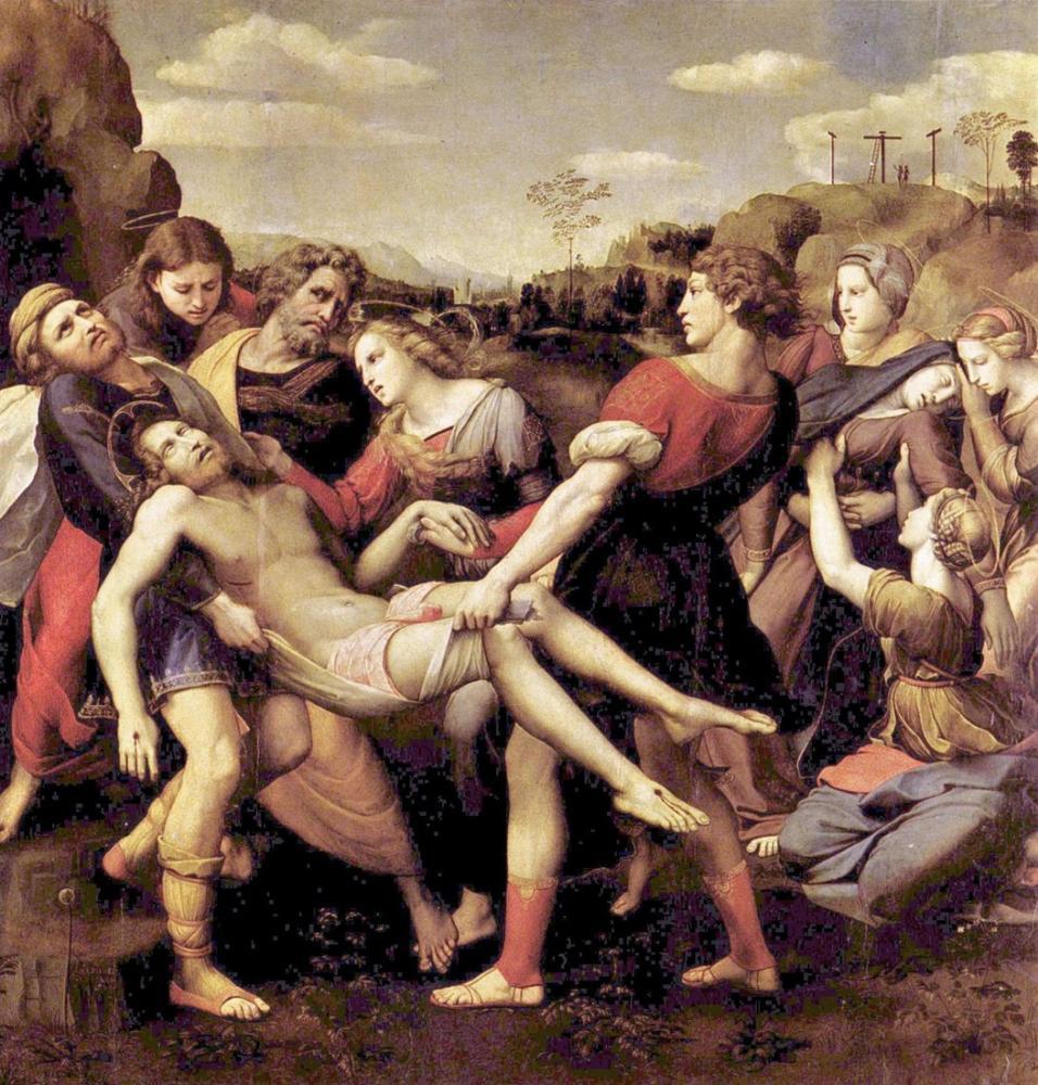 Raphael Trasporto Di Cristo Morto, Canvas, Raphael