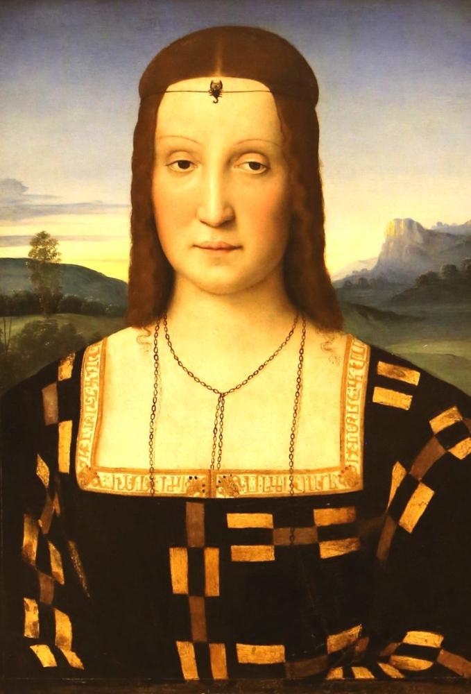 Raphael Portrait Elisabetta Gonzaga, Canvas, Raphael