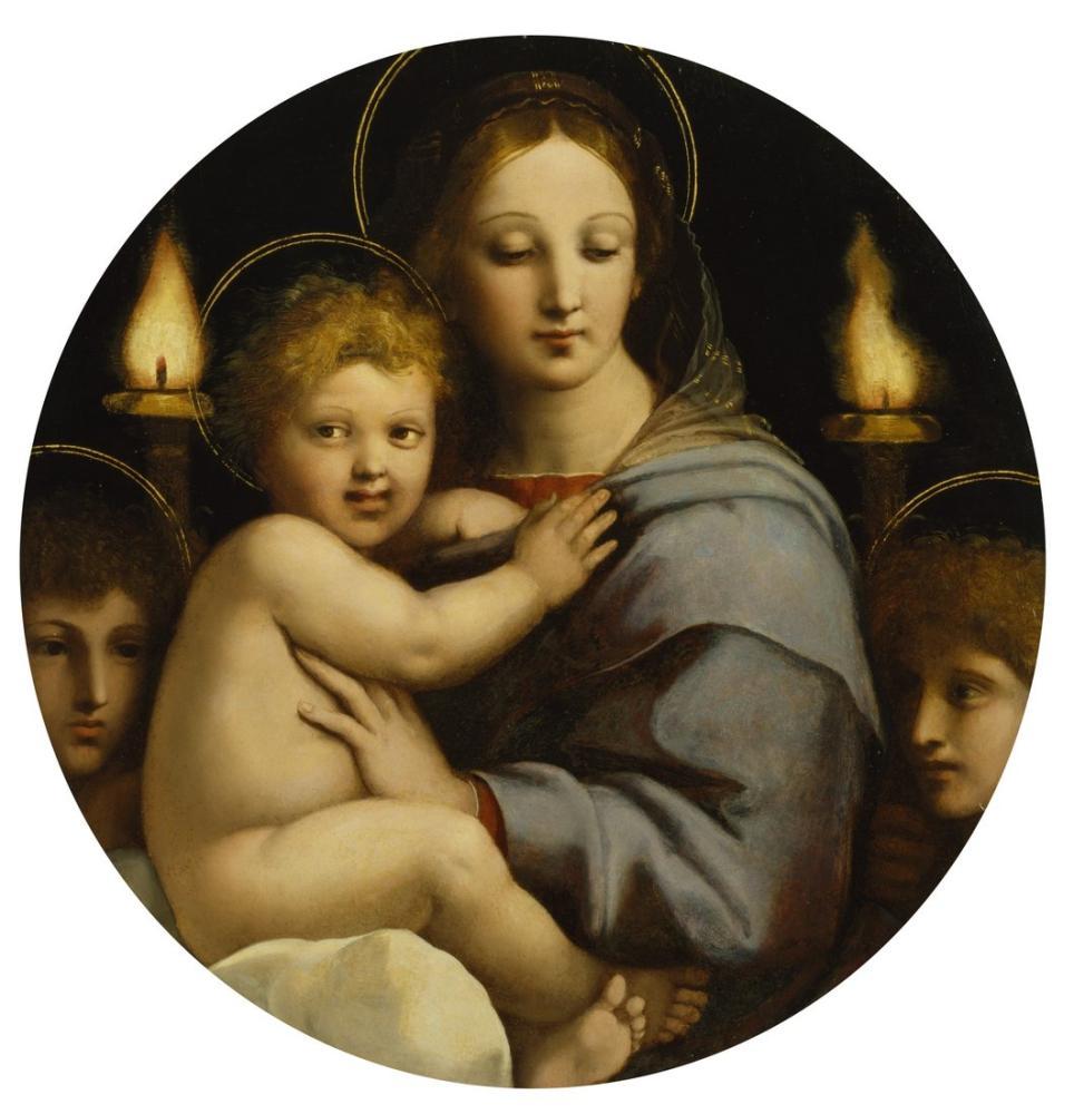 Raphael Şamdan Madonna, Kanvas Tablo, Raphael, kanvas tablo, canvas print sales
