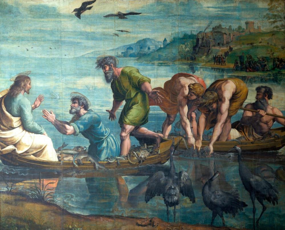 Raphael Balıkların Mucizevi Taslağı, Kanvas Tablo, Raphael, kanvas tablo, canvas print sales