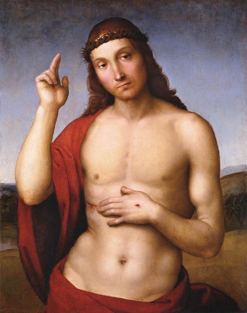 Raphael Christ Blessing Pax Vobiscum, Canvas, Raphael, kanvas tablo, canvas print sales