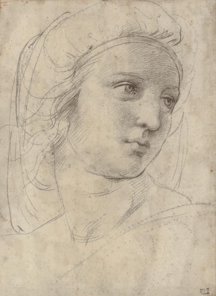 Raphael Bir Peri Başı, Kanvas Tablo, Raphael, kanvas tablo, canvas print sales