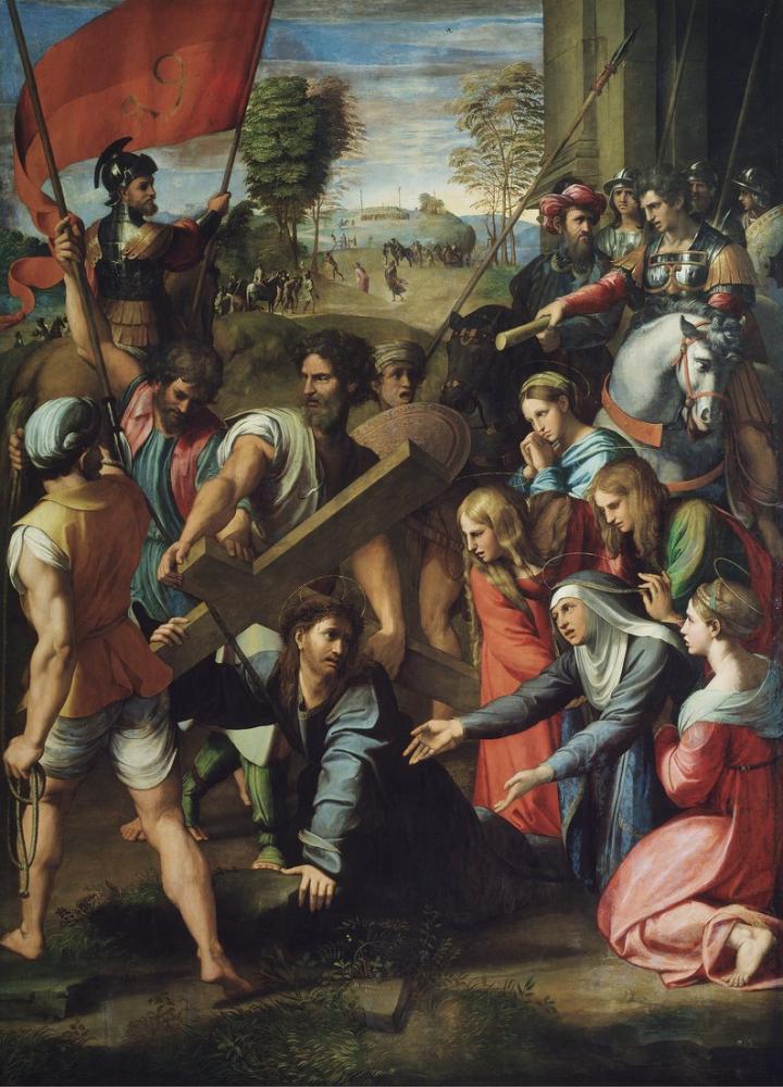 Raphael Calvary Yolunda Düşen İsa, Kanvas Tablo, Raphael, kanvas tablo, canvas print sales