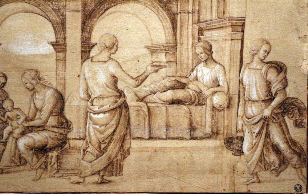 Raphael Perugino O Nascita Della Vergine, Canvas, Raphael, kanvas tablo, canvas print sales