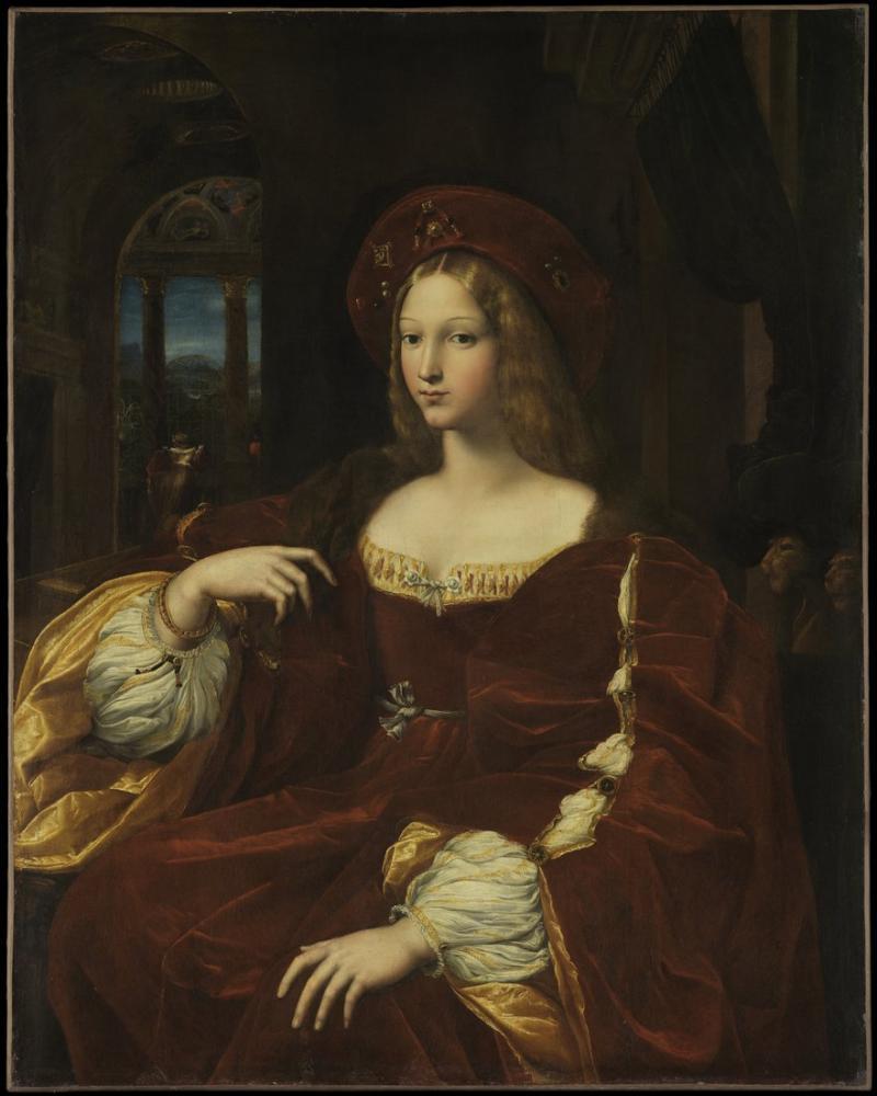 Raphael Portrait De Jeanne dAragon, Canvas, Raphael, kanvas tablo, canvas print sales