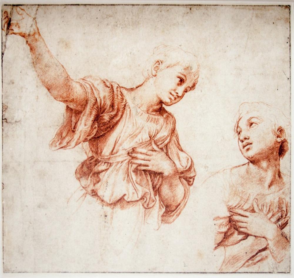 Raphael İki Melek Çalışması, Kanvas Tablo, Raphael, kanvas tablo, canvas print sales