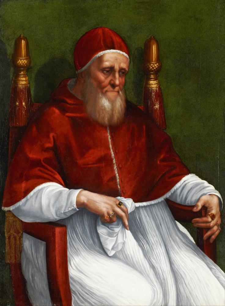 Raphael Papa Julius II Portresi, Kanvas Tablo, Raphael, kanvas tablo, canvas print sales