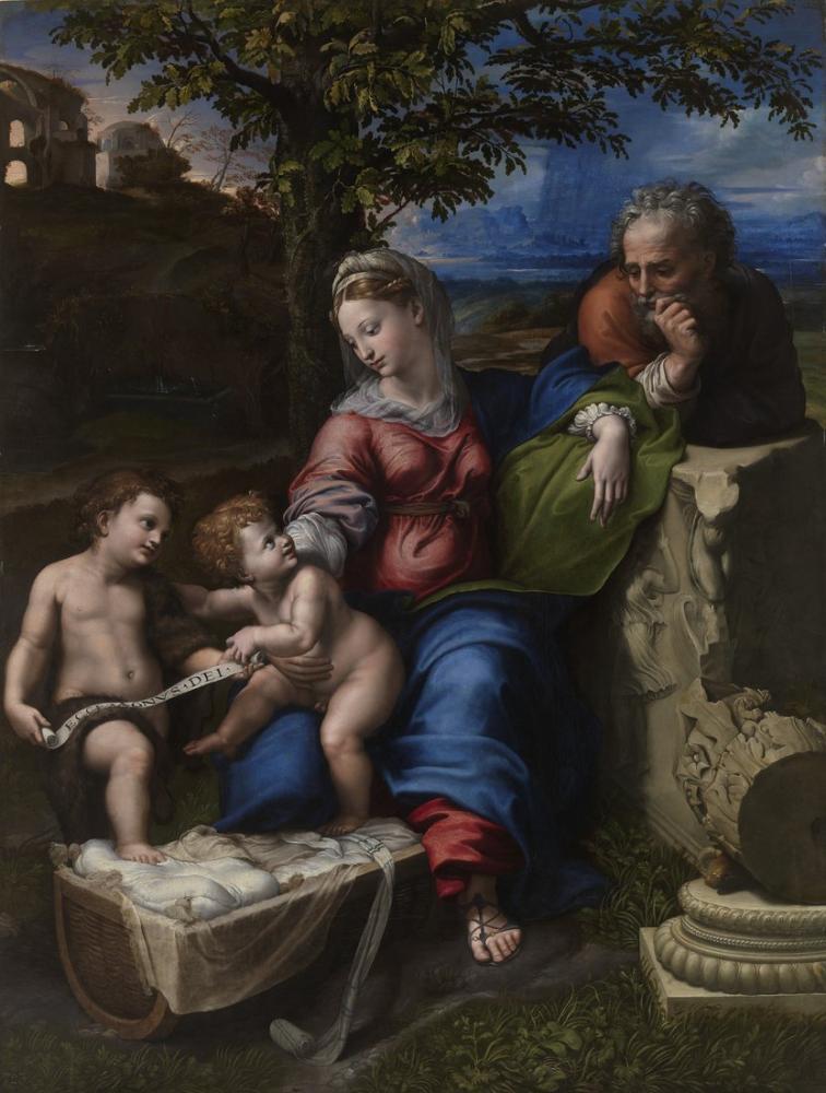 Raphael Meşe Altındaki Kutsal Aile, Kanvas Tablo, Raphael, kanvas tablo, canvas print sales
