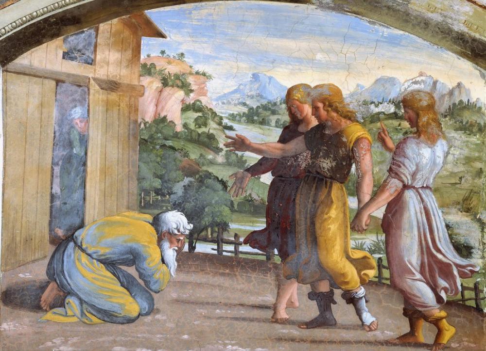 Raphael Abraham And The Three Angels, Canvas, Raphael, kanvas tablo, canvas print sales