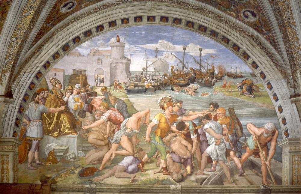 Raphael Ostia Savaşı, Kanvas Tablo, Raphael, kanvas tablo, canvas print sales