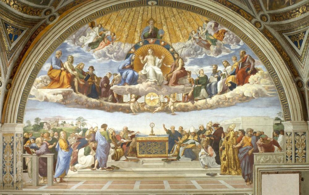 Raphael Kutsal Kitap Hakkında Anlaşmazlık, Kanvas Tablo, Raphael, kanvas tablo, canvas print sales